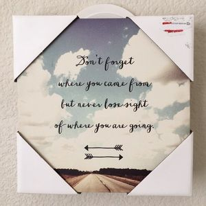 Other - NWT Inspirational Canvas Art
